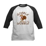 Gobble Til You Wobble Kids Baseball Tee