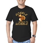 Gobble Til You Wobble Men's Fitted T-Shirt (dark)