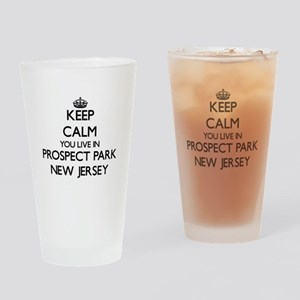 Keep calm you live in Prospect Park Drinking Glass