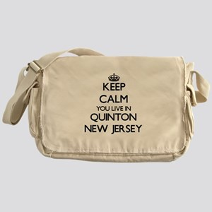 Keep calm you live in Quinton New Je Messenger Bag