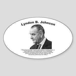 LBJ: Challenge Sticker (Oval)