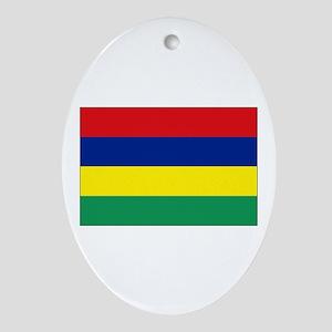 Mauritius Flag Oval Ornament