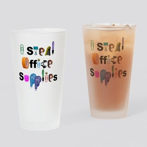 Office Supplies Drinking Glass