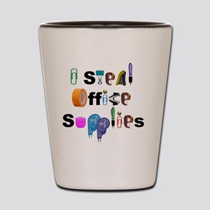 Office Supplies Shot Glass