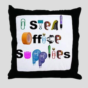 Office Supplies Throw Pillow