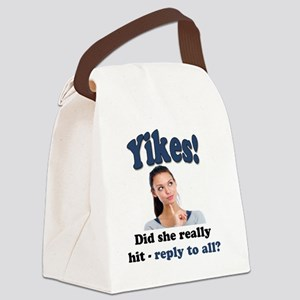 Yikes! Canvas Lunch Bag