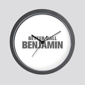 BETTER CALL BENJAMIN-Akz gray 500 Wall Clock