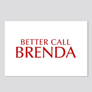 BETTER CALL BRENDA-Opt red2 550 Postcards (Package