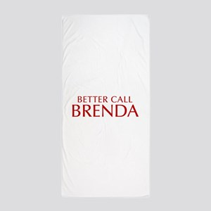 BETTER CALL BRENDA-Opt red2 550 Beach Towel