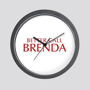 BETTER CALL BRENDA-Opt red2 550 Wall Clock
