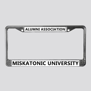 Miskatonic U. Alumni License Plate Frame (White)