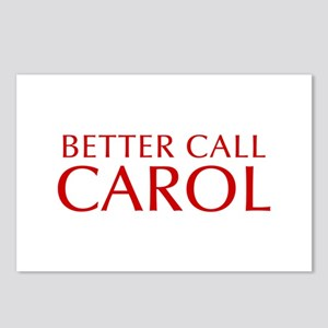 BETTER CALL CAROL-Opt red2 550 Postcards (Package