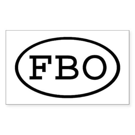 FBO Oval Rectangle Sticker