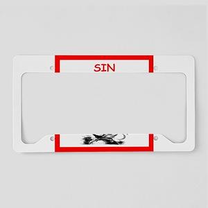 sin License Plate Holder