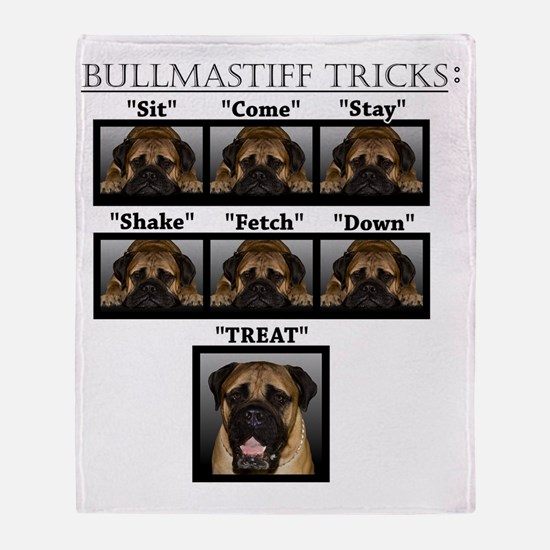 Cute Mastiff Throw Blanket