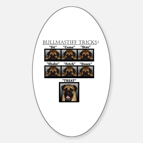 Cute Bullmastiff Sticker (Oval)