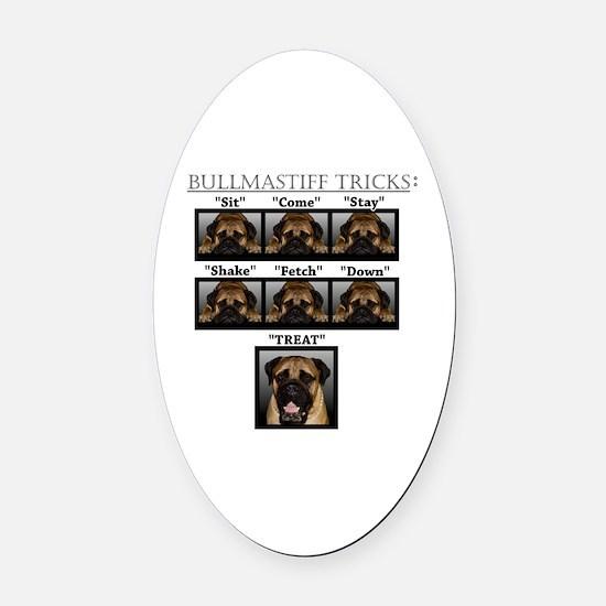 Cool Bullmastiff Oval Car Magnet