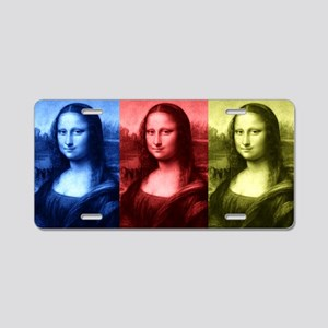Mona Lisa Primary Colors Aluminum License Plate