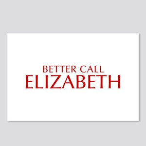 BETTER CALL ELIZABETH-Opt red2 550 Postcards (Pack