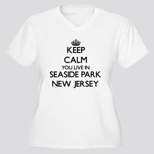 Keep calm you live in Seaside Pa Plus Size T-Shirt