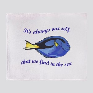 WE FIND OUR SELF Throw Blanket