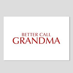BETTER CALL Grandma-Opt red2 550 Postcards (Packag