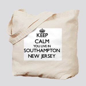Keep calm you live in Southampton New Jer Tote Bag
