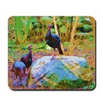 3 Wild Turkeys photo art Mousepad