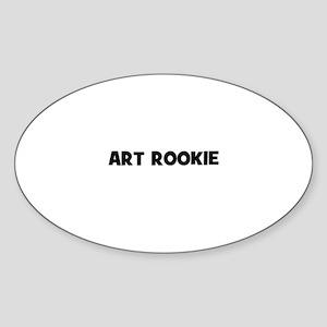 Art Rookie Oval Sticker