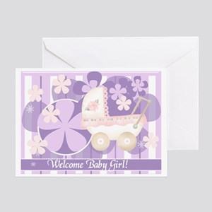 Welcome new baby greeting cards cafepress welcome baby girl greeting card m4hsunfo