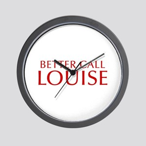 BETTER CALL LOUISE-Opt red2 550 Wall Clock