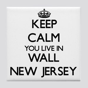 Keep calm you live in Wall New Jersey Tile Coaster