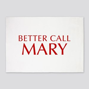 BETTER CALL MARY-Opt red2 550 5'x7'Area Rug