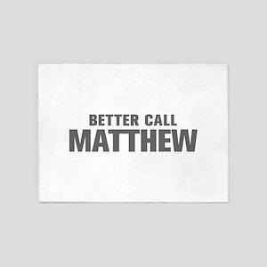 BETTER CALL MATTHEW-Akz gray 500 5'x7'Area Rug