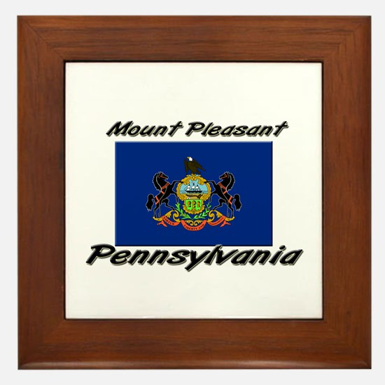 Mount Pleasant Pennsylvania Framed Tile
