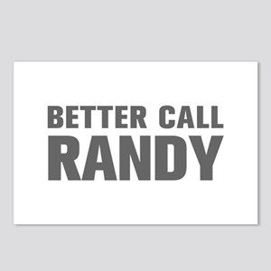 BETTER CALL RANDY-Akz gray 500 Postcards (Package
