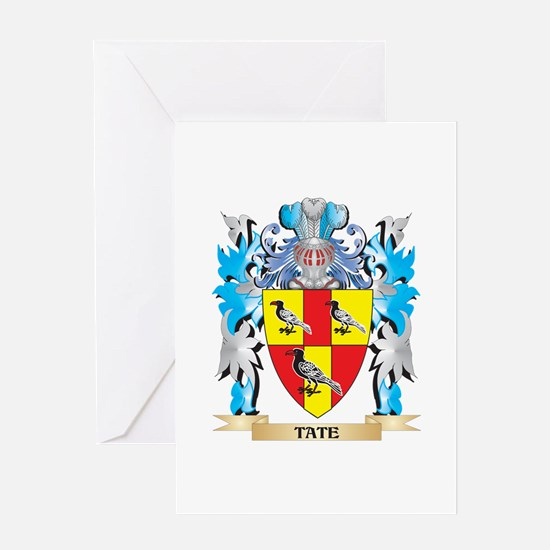 Tate Coat of Arms - Family Crest Greeting Cards
