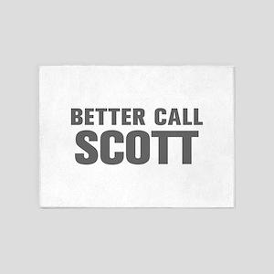 BETTER CALL SCOTT-Akz gray 500 5'x7'Area Rug
