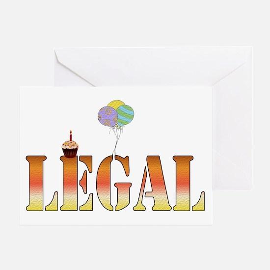 Finally Legal Birthday Greeting Card