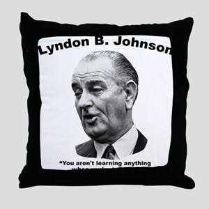 LBJ: Talking Throw Pillow