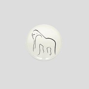 Silverback Gorilla Mini Button