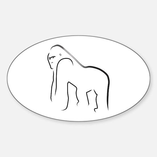 Silverback Gorilla Oval Decal