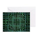 Celtic Four Leaf Clover Greeting Cards (Pk of 20)