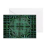 Celtic Four Leaf Clover Greeting Card
