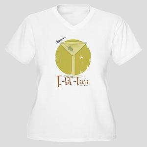 F-fif-tini Women's Plus Size V-Neck T-Shirt