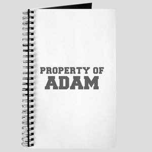 PROPERTY OF ADAM-Fre gray 600 Journal
