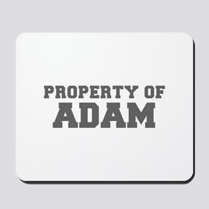 PROPERTY OF ADAM-Fre gray 600 Mousepad