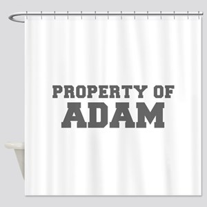 PROPERTY OF ADAM-Fre gray 600 Shower Curtain