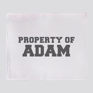 PROPERTY OF ADAM-Fre gray 600 Throw Blanket