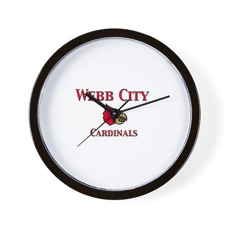 Webb City Cardinals Wall Clock